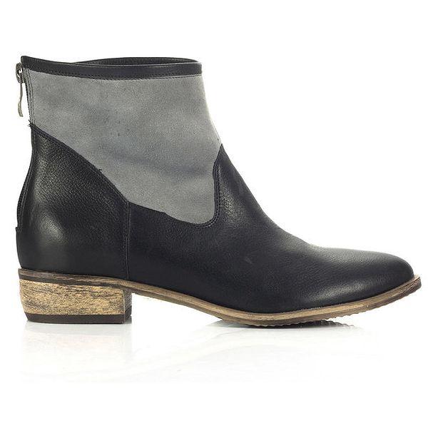 Dámské šedo-černé boty Joana and Paola