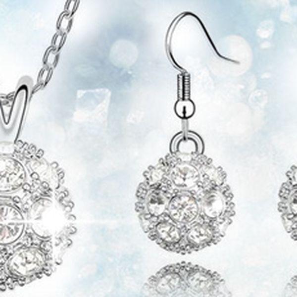 Set šperků se Swarovski Elements: náhrdelník a náušnice. Sluší každé ženě!