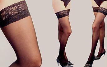 Trojbalení samodržících punčoch s krajkou: 60 DEN s poštovným