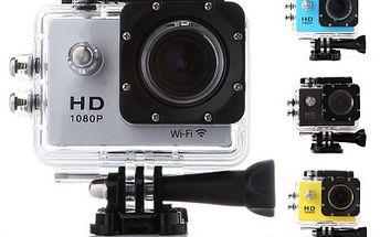 FullHD sportovní kamera s Wi-Fi, voděodolná do 30m