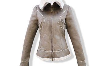 Dámská teplá bunda s kožíškem