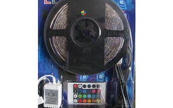 Barevná LED páska, samolepicí + ovladač 5 metrů