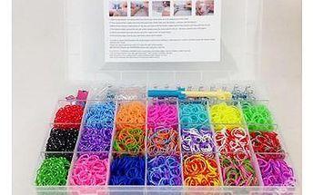 Loom bands - 5 200 gumiček v kufru