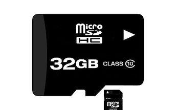 Paměťová karta 32 GB class 10 + adapter