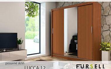 Posuvná skříň LUCCA 12 + zrcadlo