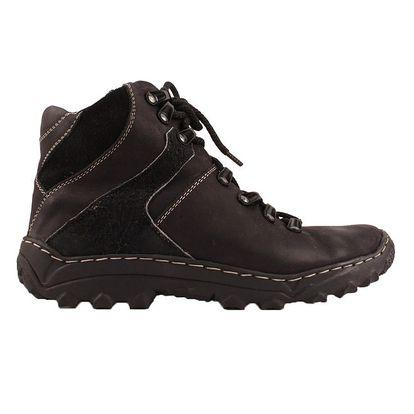 Dámské černé kotníkové boty se zatepením Maxim