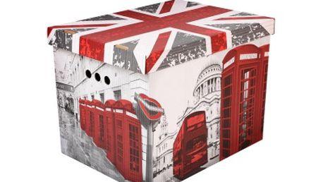 Dekorativní krabice Londýn - úložný box
