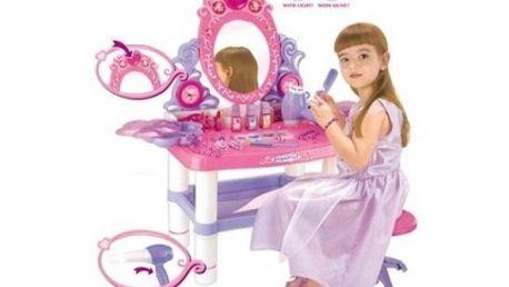 Hrací kosmetický stolek, kadeřnice se zrcadlem