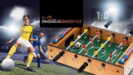 STOLNÍ FOTBÁLEK se 2 míčky! Zmenšená verze klasického stolního fotbalu!