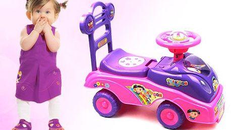 Dětské odrážedlo - auto pro slečny