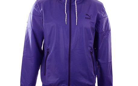 Pánská modrá sportovní bunda s kapucí Puma
