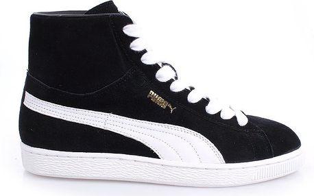 Pánské černé kotníkové boty s bílými prvky Puma