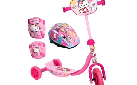 Koloběžka Hello Kitty s přilbou a chrániči