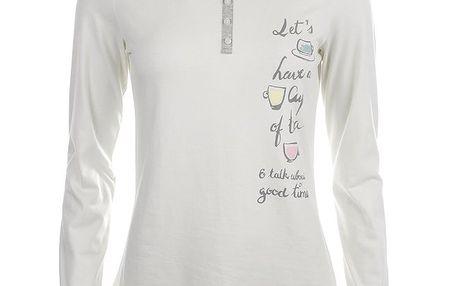 Dámské bílé pyžamové tričko s nápisem Banana Moon