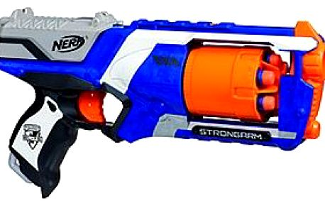 Nerf Elite pistole s bubnovým zásobníkem