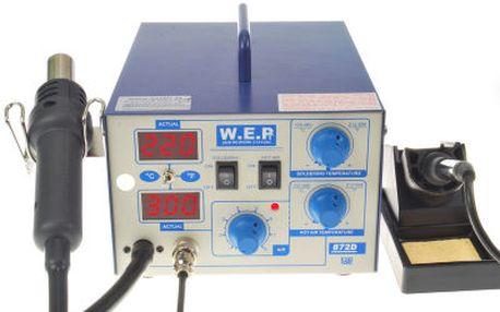 Pájecí stanice WEP 872D HOTAIR 700W + mikropájka
