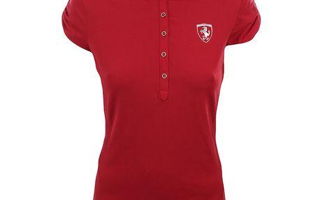 Dámské červené polo tričko Puma