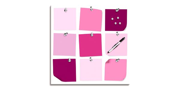 Pestrobarevná magnetická tabule 1006, 50x50 cm