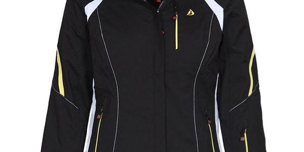 Dámská černá lyžařská bunda se žlutými prvky Bergson