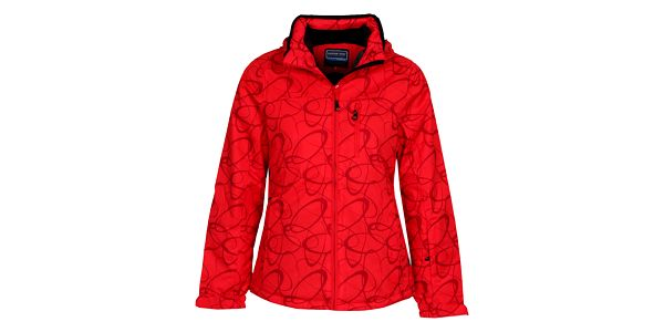 Dámská červená lyžařská bunda se vzorem Bergson