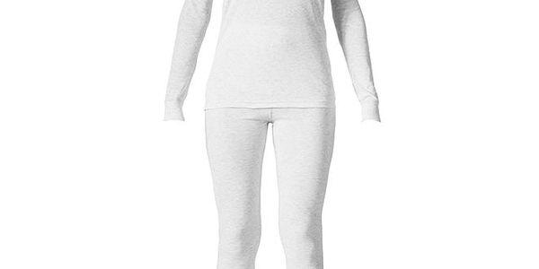 Dámský bílý set spodního prádla - tričko a kalhoty Bergson