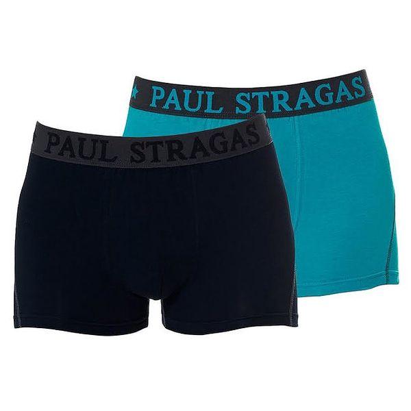 Set černých a zelených pánských boxerek Paul Stragas