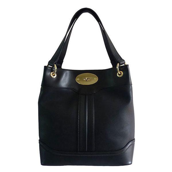 Dámská černá kabelka se zámečkem Gessy