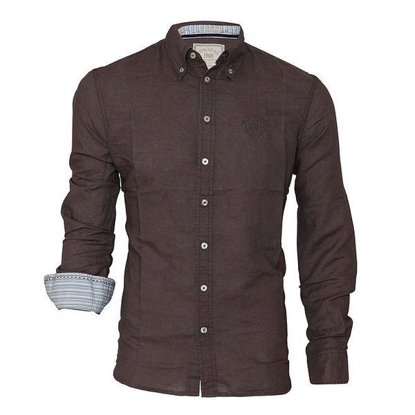 Pánská šedohnědá košile Paul Stragas