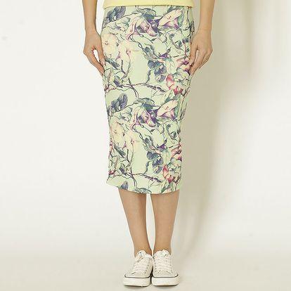 Dámská mentolová sukně s květinami Chaser