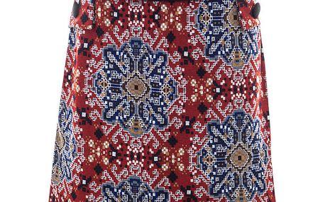 Dámská červeno-modrá vzorovaná sukně Purple Jam