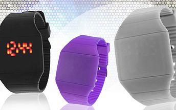 Nápadité silikonové hodinky v akci!