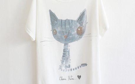 Volné tričko s romantickými motivy!