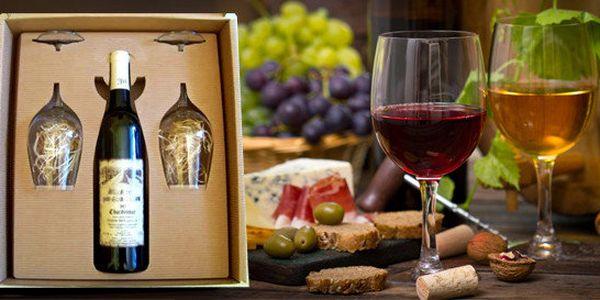 Dárková sada víno + 2 sklenice od vinařství Pod starú horú