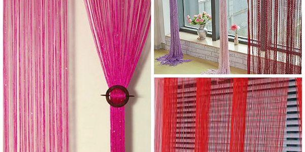 Barevná provázková záclona Line - krásné barvy pro váš interiér!