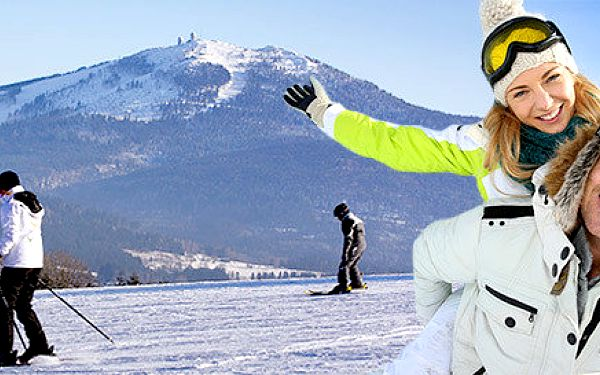 Zimní pohoda a lyžování pro dva na Šumavě