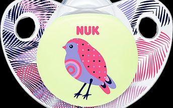 NUK ptáček Dudlík Trendline DEN & NOC, silikon, velikost 2 (6-18m.)