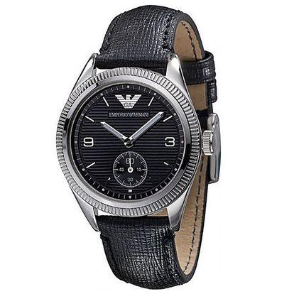 Dámské černé hodinky Emporio Armani