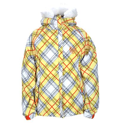 Dívčí budna Girls Mannual Bella Insulated Jacket lemon argyle print