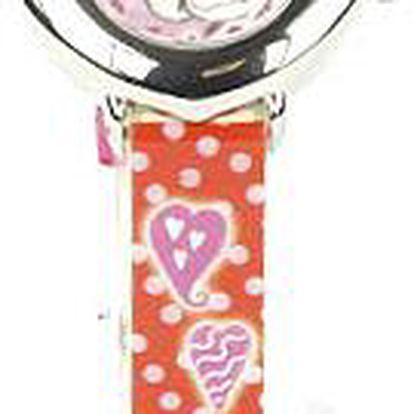 Trendy hodinky ve tvaru srdce s motivem myšky Diddliny