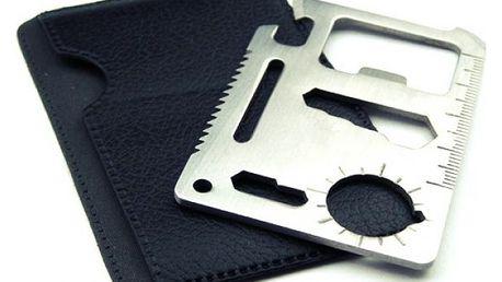 Multifunkční karta přežití 11 v 1 s pouzdrem