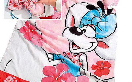 Diddl & Friends Osuška v baťůžku Diddlina Ručník plážový v baťůžku Aloha 76x152 cm