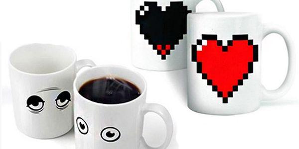 Ospalý hrníček - mění vzhled!! Ideální na ranní kávu!! Dvě varianty!!