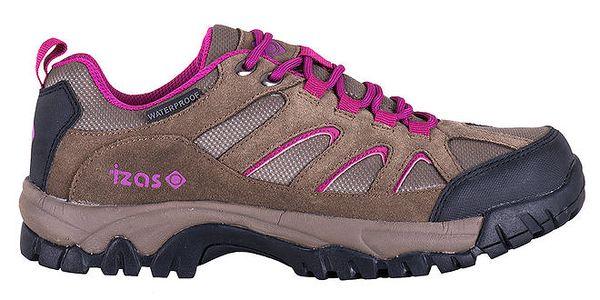 Dámské outdoorové boty v hnědo-fuchsiovém provedení Izas