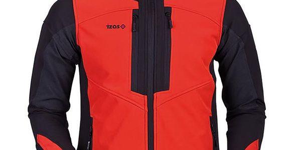 Pánská oranžovo-černá softshellová bunda Izas