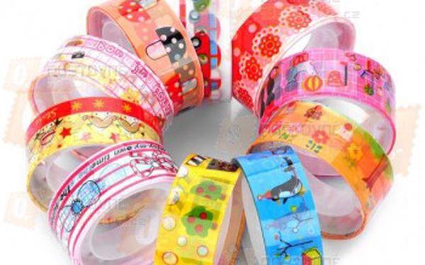 Dekorativní lepící páska - 10 kusů a poštovné ZDARMA! - 9999902692