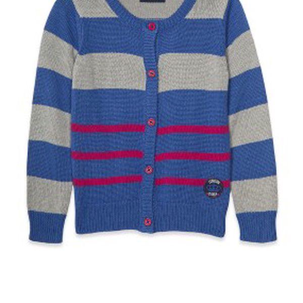 Krásný proužkatý dětský svetr od Blue Seven