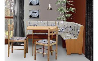 Rohový jídelní set a židle