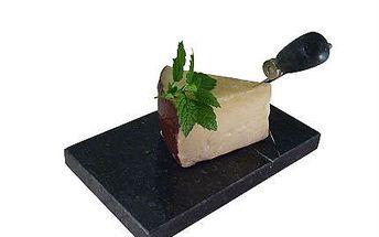 Originální dárek pro vaše blízké kráječ na sýr s podstavcem z žuly