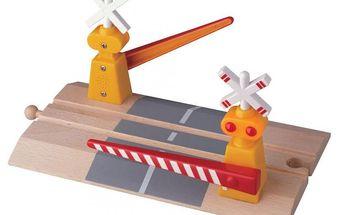 Železniční elektronické závory k dřevěným vláčkodrahám