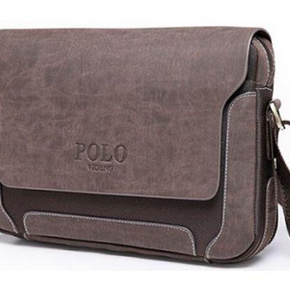 Kožená messenger taška Polo přes rameno